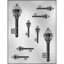 """5"""" & 2-1/2"""" Skeleton Keys Choc Mold"""