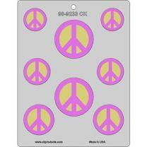 Peace Sign Assortment Mold