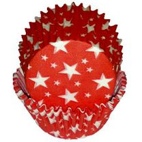 Red With White Stars Baking Cups, 500 ct.