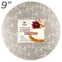 """9"""" Silver Round Thin Drum 1/4"""""""