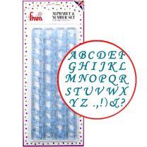 Alphabet & Numbers Set - Script Uppercase