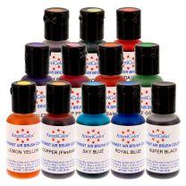 Amerimist .7oz Airbrush Color Set, 12 colors