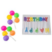 Happy Birthday Neon Candles