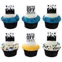 Hats Off and Silhouette, Cupcake Pics, 12 ct.