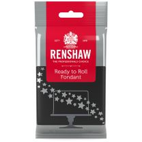 Renshaw Ready-To-Roll Fondant Icing Black 8.8 oz