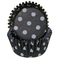 Black Polka Dot Mini Baking Cups, 500 ct.