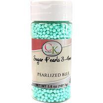 Blue Pearlized 3-4mm Sugar Pearls 3.6 OZ