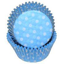 Light Blue Polka Dot Baking Cups, 500 ct.