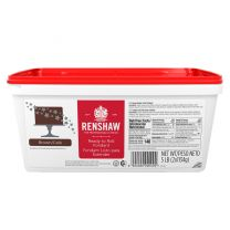 Renshaw Ready-To-Roll Fondant Icing Brown 5 lb