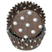 Brown Polka Dot Mini Baking Cups, 500 ct.