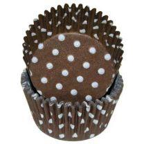 Brown Polka Dot Baking Cups, 500 ct.