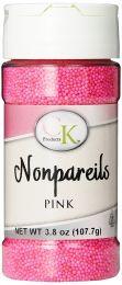 3.8 oz Non-Pareils Pink