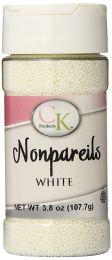 3.8 oz Non-Pareils White