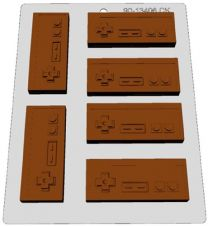 Classic Video Games Controller Chocolate Mold