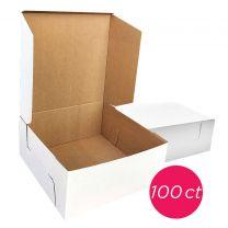 12x12x6 White/Brown Kraft Cake Box, 100 ct.