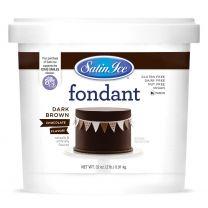 Satin Ice Fondant Dark Chocolate 2#