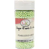 Green Pearlized 3-4mm Sugar Pearls 3.6 OZ
