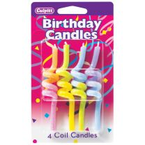 Crazy Pastel Coil Birthday Candles