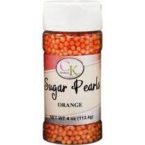 Orange 3-4mm Sugar Pearls 4 OZ