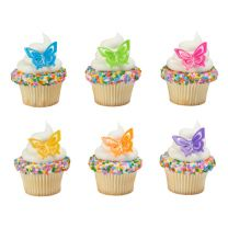 Butterfly Cupcake Rings, 12 ct.