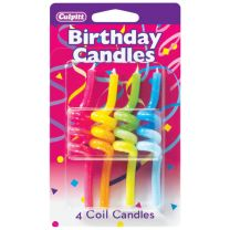 Crazy Primary Coil Birthday Candles