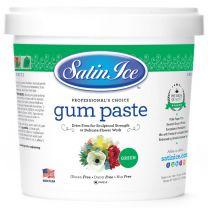 Satin Ice Gum Paste Green 2 lb.