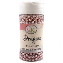 Pink 5mm Dragee, 3.7 oz