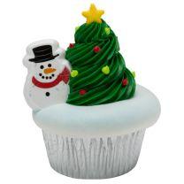 Snowman Cupcake Rings, 12 ct.