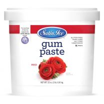Satin Ice Gum Paste Red 2 lb.
