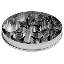 12 Piece Stainless Steel Flower & Leaf Cutter Set