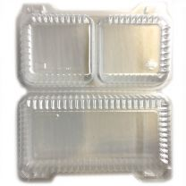 Shallow 2 Cell Hinge Container, 12 ct