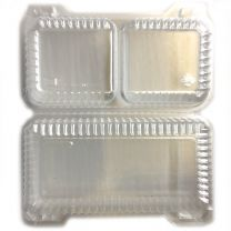 Shallow 2 Cell Hinge Container, 100 ct