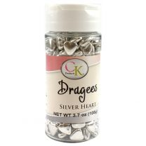 Silver Heart Dragee, 3.7 oz