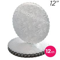 """12"""" Silver Scalloped Edge Cake Boards, 12 ct"""