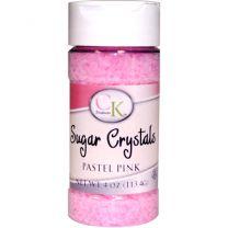 4 oz Sugar Crystals - Pastel Pink