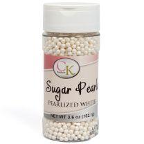 White 3-4mm Sugar Pearls 3.6 OZ