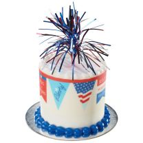 Independence Day Spray Mylar, Cupcake Pics, 6 ct