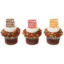 Happy Thanksgiving, Cupcake Pics, 12 ct