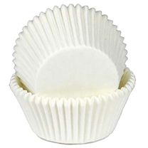 """White Baking Cups 2-3/4 x 1-1/4"""", 10.000 ct."""