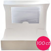 14x10x4 Window Cake Box, 100 ct