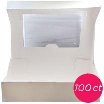 10x10x5 Window White Cake Box, 100 ct