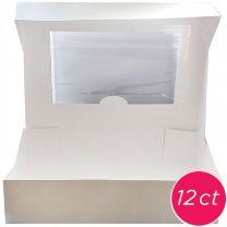19x14x4 Window Cake Box, 12 ct