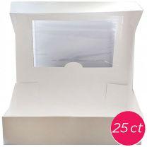 19x14x4 Window Cake Box, 25 ct