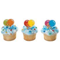 Balloons Cupcake Rings, 12 ct.
