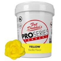 Fat Daddio's Fondant Yellow Vanilla 2 lb.