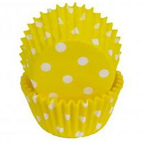 Yellow Polka Dot Mini Baking Cups, 500 ct.