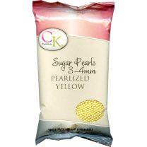 Sugar Pearls 3-4mm - Yellow, 16 oz